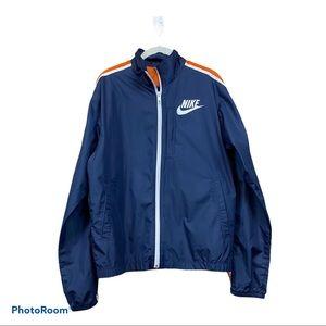 Vintage navy blue Nike zip up windbreaker jacket